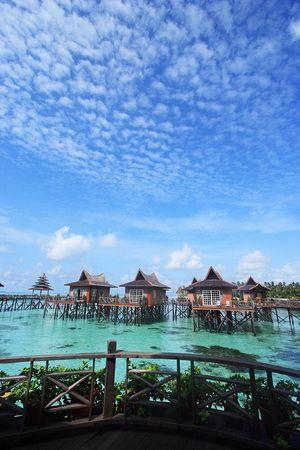 mabul: Mabul Island Resort, Sabah, Malaysa. Stock Photo