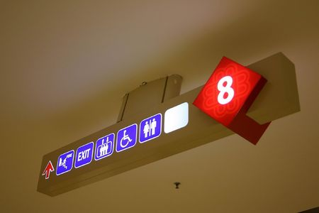 Direction board in a shopping center photo
