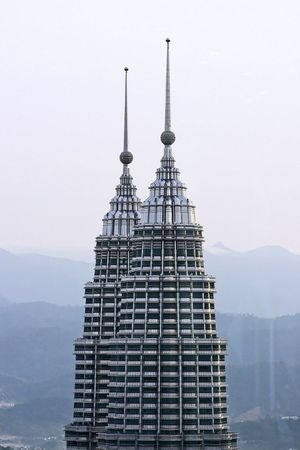 Petronas Twin Towers close up