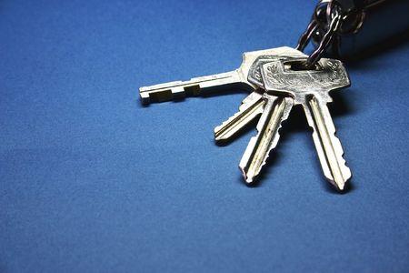 function key: Door keys close up.