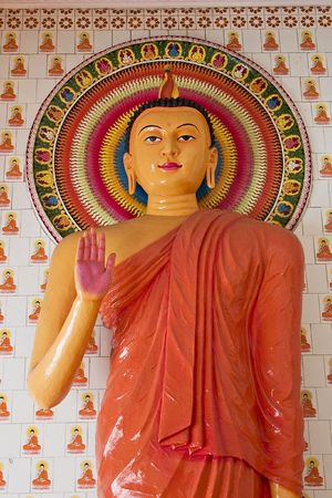 godliness: Buddha Statue in a temple Stock Photo