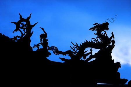 godliness: Chinese Dragon Silhouette