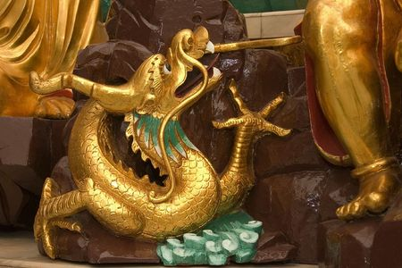 Golden Dragon Statue Stock Photo - 593987