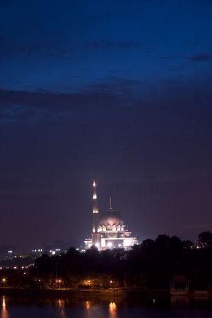 Putrajaya mosque in Kuala Lumpur, Malaysia. photo