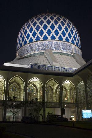 alam: The Sultan Salahuddin Abdul Aziz Shah Mosque in Shah Alam, Selangor, Malaysia. Stock Photo