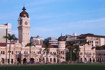 Sultan Abdul Samad Building in Kuala Lumpur Malaysia. 스톡 콘텐츠