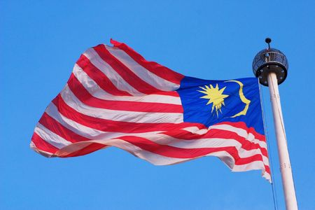 Flying Malaysia Flag