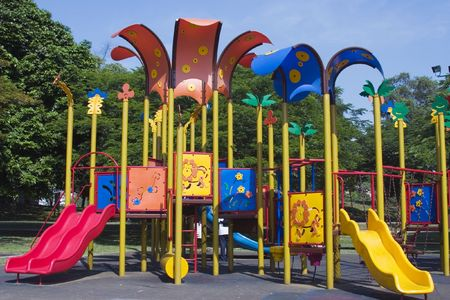 Colourful children playground.