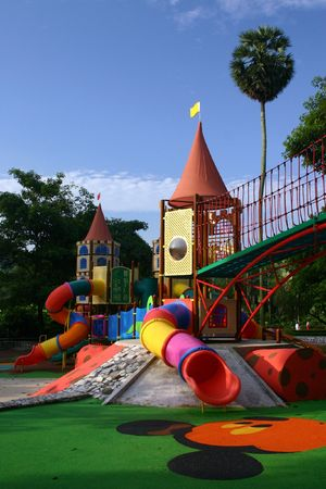 Colourful playground Stock Photo - 599932