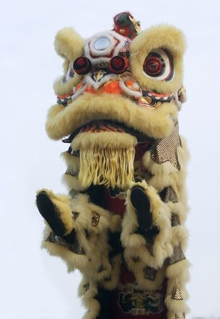 Chinese lion dance.