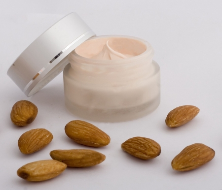 Cream product with almond.