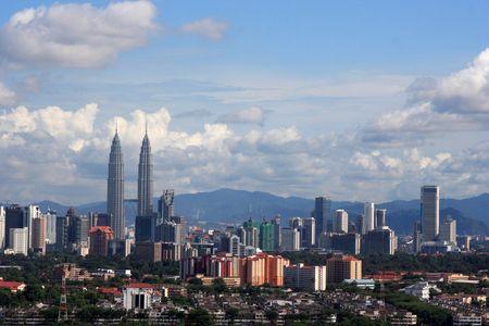 petronas: Skyline Kuala Lumpur, Malasia.