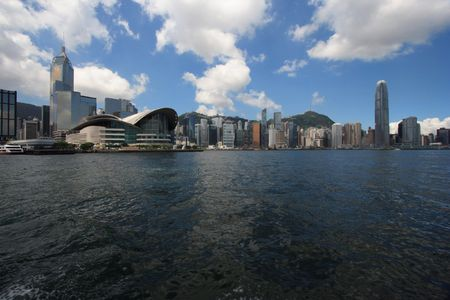 Hong Kong Skyline in the afternoon. Stock Photo
