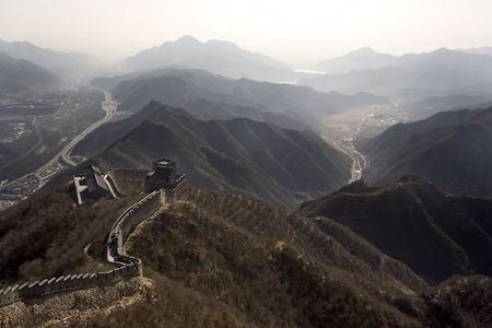 The great wall at China. Banco de Imagens