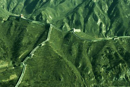 The great wall at China. Stock Photo