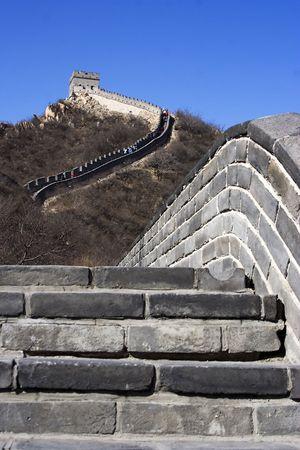 The great wall at China. photo