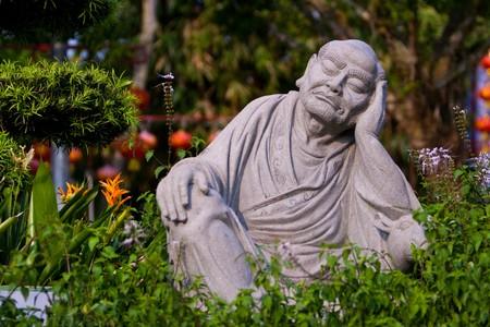 マレーシアの東の禅宗のお寺で大仏様。