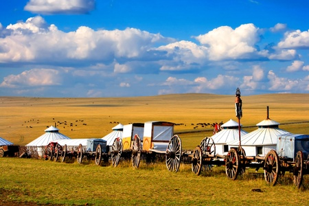 inner mongolia: Migration transport in Inner Mongolia, use to migrate from one place to another.