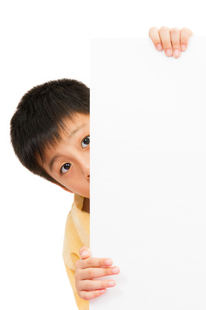 asian boy: Asian Chinese Little Boy Holding blank white board