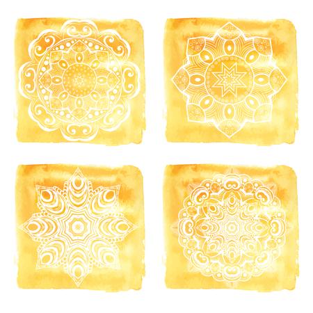 mandalas: Hand drawn mandalas set