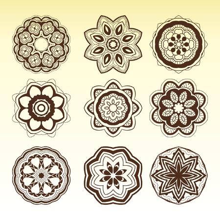 mandalas: arabic mandalas set.