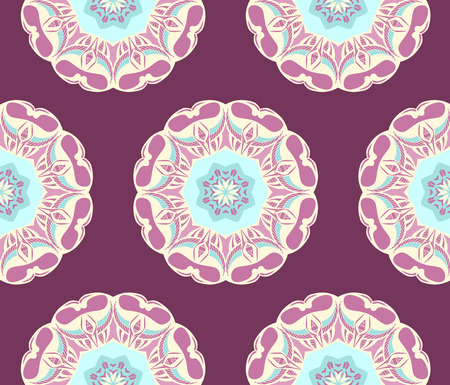 seamless pattern with mandalas. Endless texture can be used for wallpaper, textile, pattern fills, web page background. 向量圖像