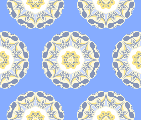 oriental seamless pattern with mandalas. Endless texture can be used for wallpaper, textile, pattern fills, web page background.