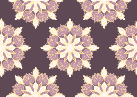 seamless pattern with mandalas. Endless texture can be used for wallpaper, textile, pattern fills, web page background. Illustration