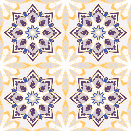 seamless pattern with mandalas. Endless texture can be used for wallpaper, textile, pattern fills, web page background. Ilustracja