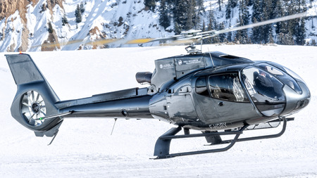 Take off from Courchevel Heliport