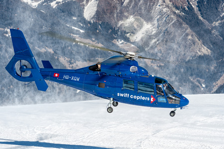 Aerospatiale AS365 departed from Courchevel altiport.
