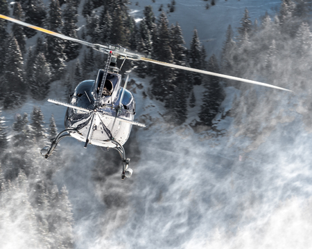 Turbolence snow, from Courchevel Heliport Editorial