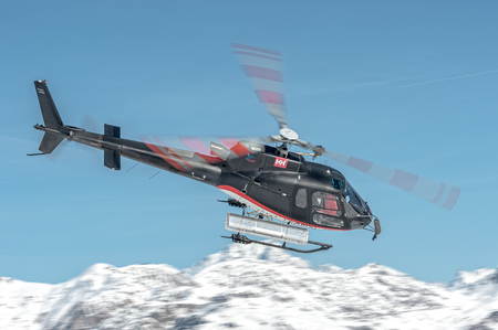 Fast departure at Courchevel Altiport