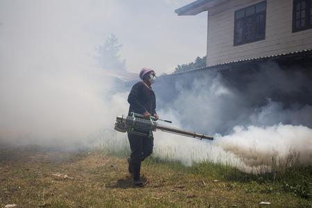 Fogging to prevent spread of dengue fever photo