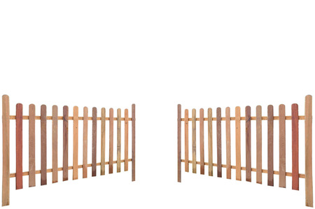 high section: wood palisade in perspective
