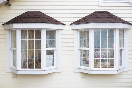 handcarves: windows wood Stock Photo