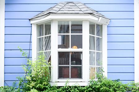 Vorhang durch ein Fenster Lizenzfreie Bilder
