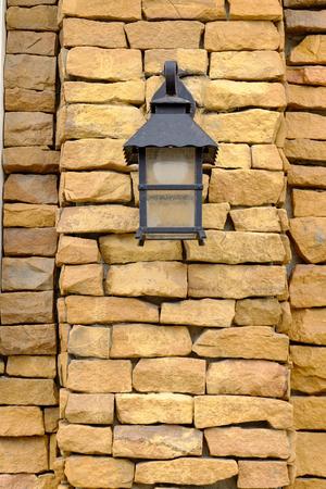 Oil Lamp at Night on a Wooden Surface Lizenzfreie Bilder