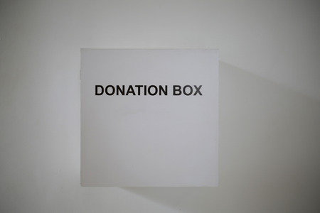 Spenden Sie Geld - Donation Box flach Stil Lizenzfreie Bilder