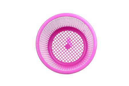 empty basket: plastic basket. plastic basket on background. plastic basket on a background Stock Photo