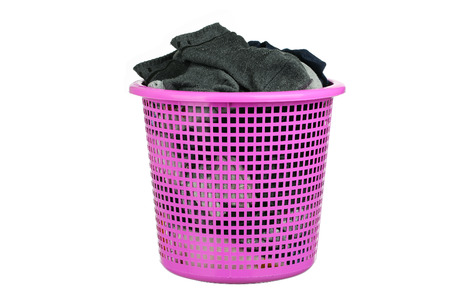 launder: A Laundry basket on home care Stock Photo