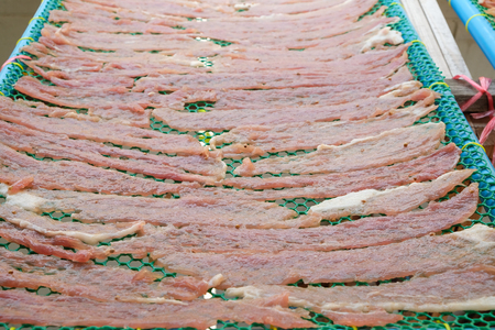 meat on drying in the sun Standard-Bild