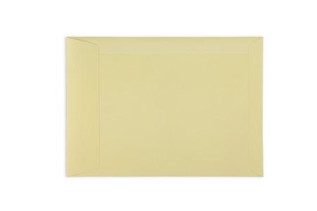Umschlag mit Fenster, isoliert auf weißem Hintergrund Lizenzfreie Bilder - 46785039