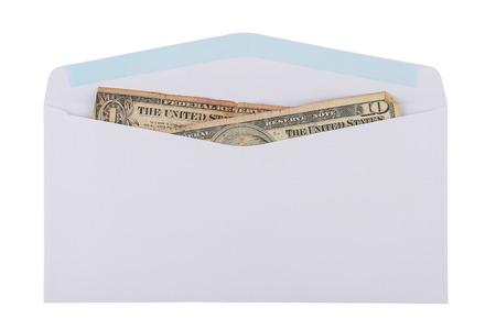 old cash in an envelope