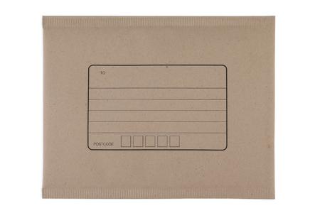 Brown Umschlagdokument auf weißem Hintergrund Lizenzfreie Bilder
