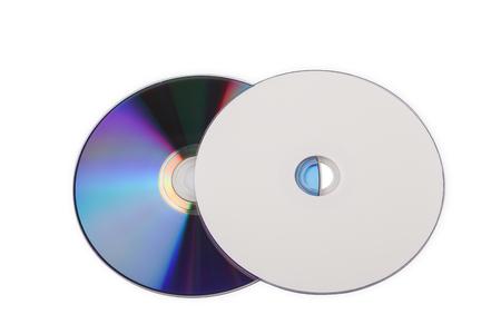 Compact Discs auf weißem Hintergrund