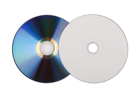 Compact Discs auf weißem Hintergrund Standard-Bild - 46785266