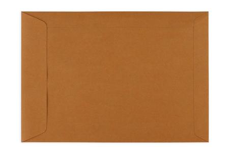 Brown Umschlagdokument auf weißem Hintergrund Standard-Bild - 46785276