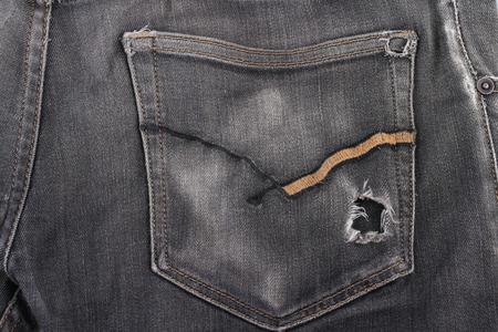Eine sperrige Brieftasche auf einem Taschen-Jeans, ein Konzept des Reichtums Standard-Bild - 46785271