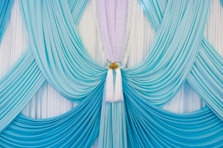 draped: Luxury curtain with a copy-space in the middle